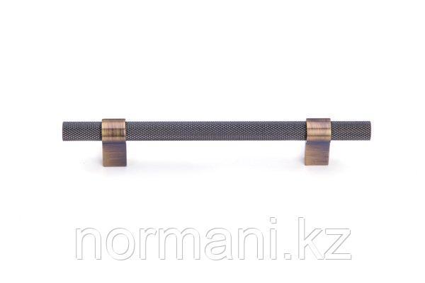 Мебельная ручка скоба 128мм, отделка бронза античная