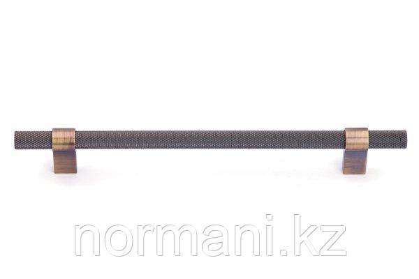 Мебельная ручка скоба 192мм, отделка бронза античная