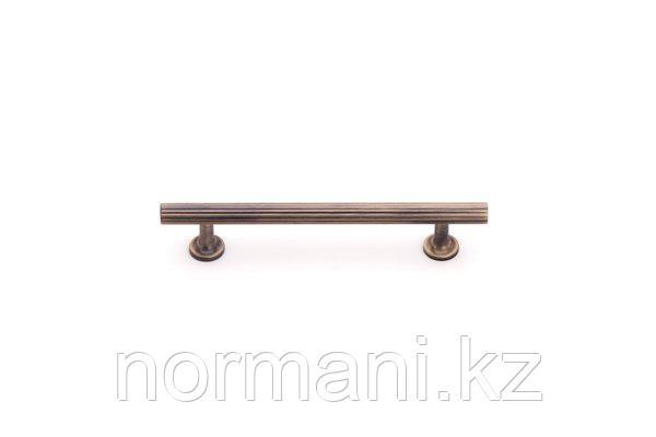 Мебельная ручка скоба, замак, размер посадки 192мм, отделка бронза античная