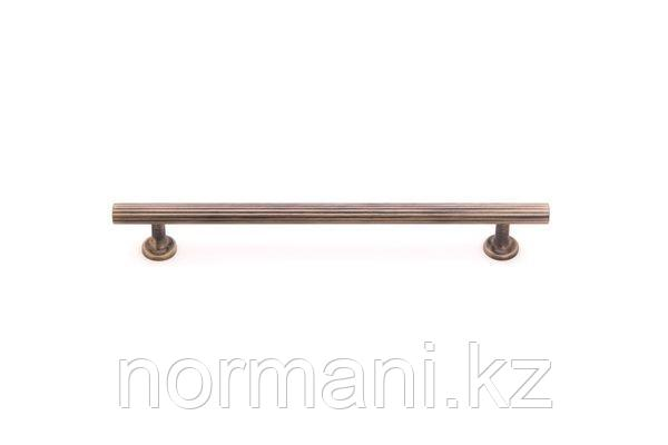 Мебельная ручка скоба 320мм, отделка бронза античная