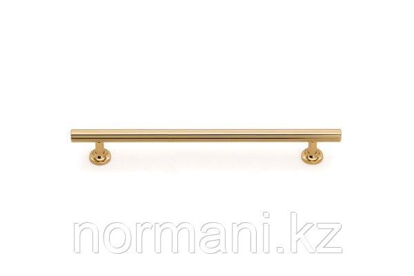 Мебельная ручка скоба, замак, размер посадки 128мм, отделка золото глянец