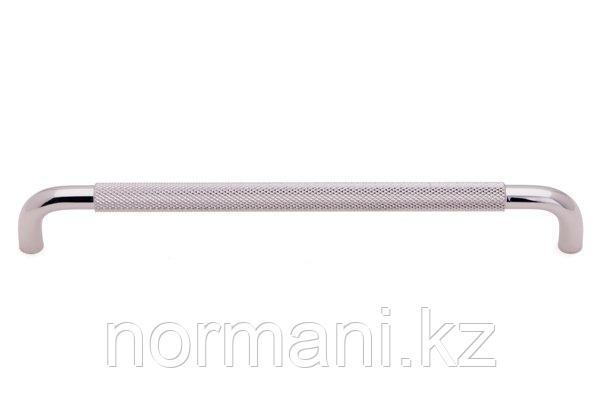 Мебельная ручка скоба, замак, размер посадки 224мм, отделка никель глянец