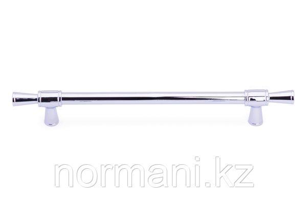 Мебельная ручка скоба 192мм, отделка хром