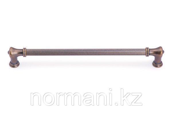 Мебельная ручка скоба 256мм, отделка бронза