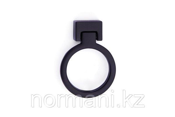 Мебельная ручка кольцо, отделка черный