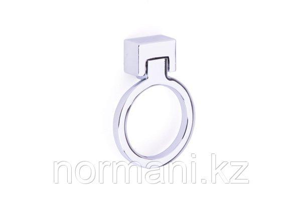 Мебельная ручка кольцо, отделка хром
