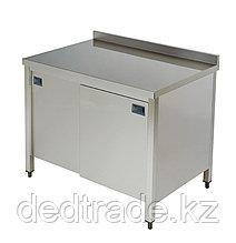 Стол рабочий со шкафом нержавеющая сталь размеры 1400*600*850 мм