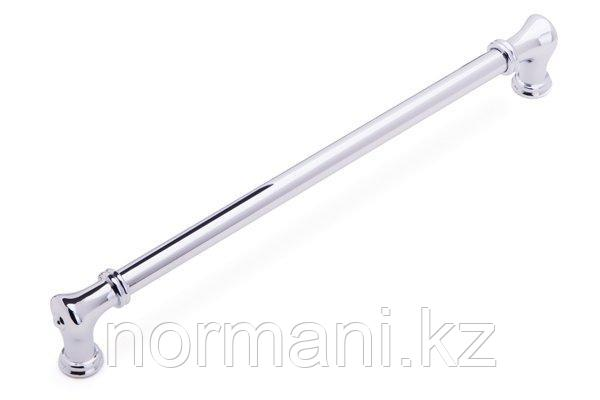 Мебельная ручка скоба 256мм, отделка хром