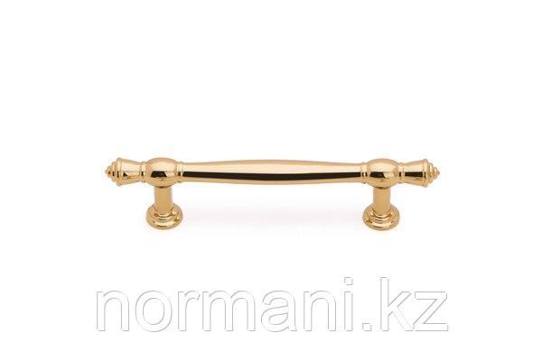 Мебельная ручка скоба, замак, размер посадки 96мм, отделка золото глянец