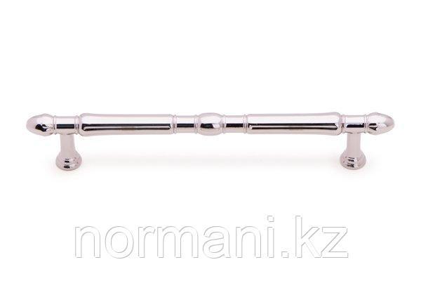 Мебельная ручка скоба, замак, размер посадки 160мм, отделка никель глянец