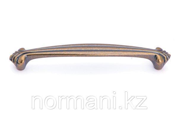 Мебельная ручка скоба 128мм, отделка бронза