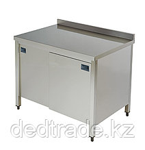 Стол рабочий со шкафом нержавеющая сталь размеры 1400*700*850 мм