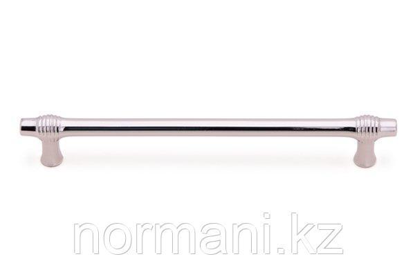 Мебельная ручка скоба, замак, размер посадки 192мм, отделка никель глянец