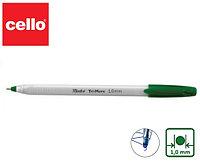 Ручка шариковая Cello Tri-Mate 1.0 mm зеленые чернила