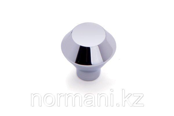 Мебельная ручка кнопка, отделка хром