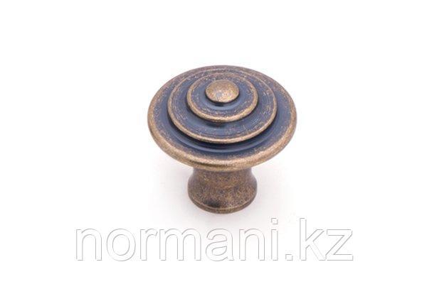 Мебельная ручка кнопка, отделка бронза