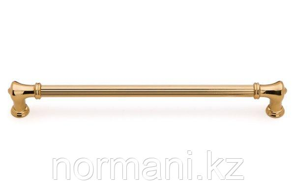 Мебельная ручка скоба, замак, размер посадки 256мм, отделка золото глянец