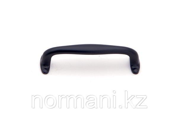 Мебельная ручка скоба 96мм, отделка черный матовый