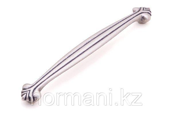 Мебельная ручка скоба 128мм, отделка серебро
