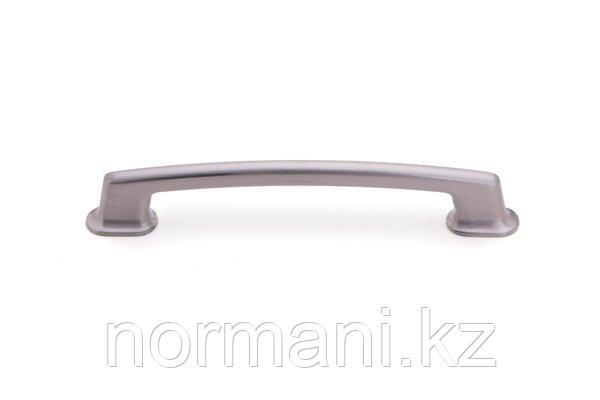 Мебельная ручка скоба 128мм, отделка сатин