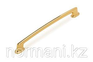 Мебельная ручка скоба, замак, размер посадки 192мм, отделка золото глянец