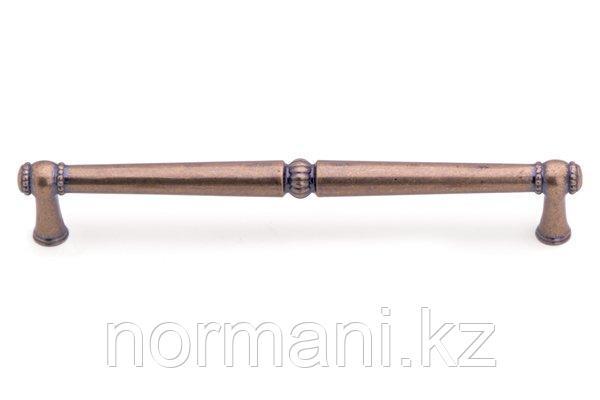 Мебельная ручка скоба 192мм, отделка бронза