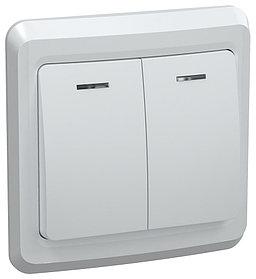Выключатель ВС 10-2-1-ВБ двухкл.10А с инд. ВЕГА (белый) ИЭК