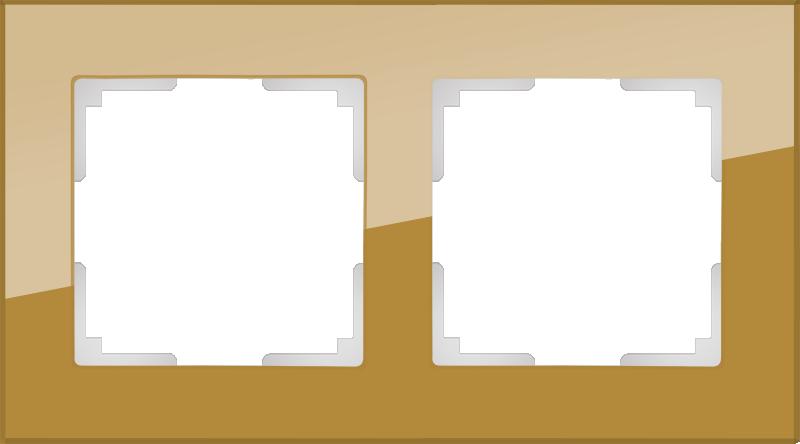 Рамка на 2 поста /WL01-Frame-02 (бронзовый)