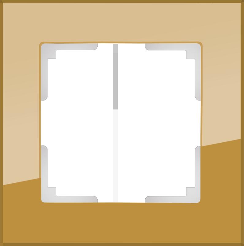 Рамка на 1 пост /WL01-Frame-01 (бронзовый)