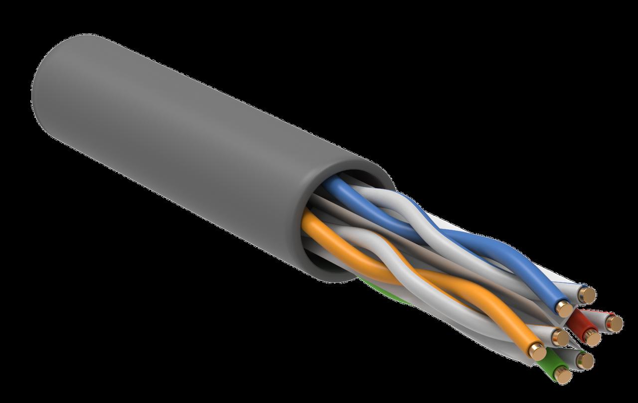 ITK Витая пара S/FTP категории 6А 4*2*23AWG PVC серый (305м) ИЭК