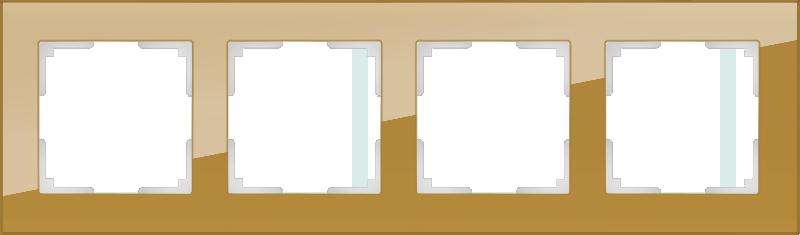 Рамка на 4 поста /WL01-Frame-04 (бронзовый)