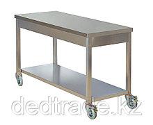 Рабочий стол подвижный нержавеющая сталь Размеры 1800х600х850 мм