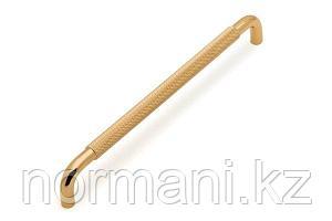 Мебельная ручка скоба, замак, размер посадки 224мм, отделка золото глянец