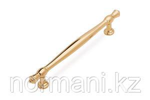 Мебельная ручка скоба, замак, размер посадки 160мм, отделка золото глянец