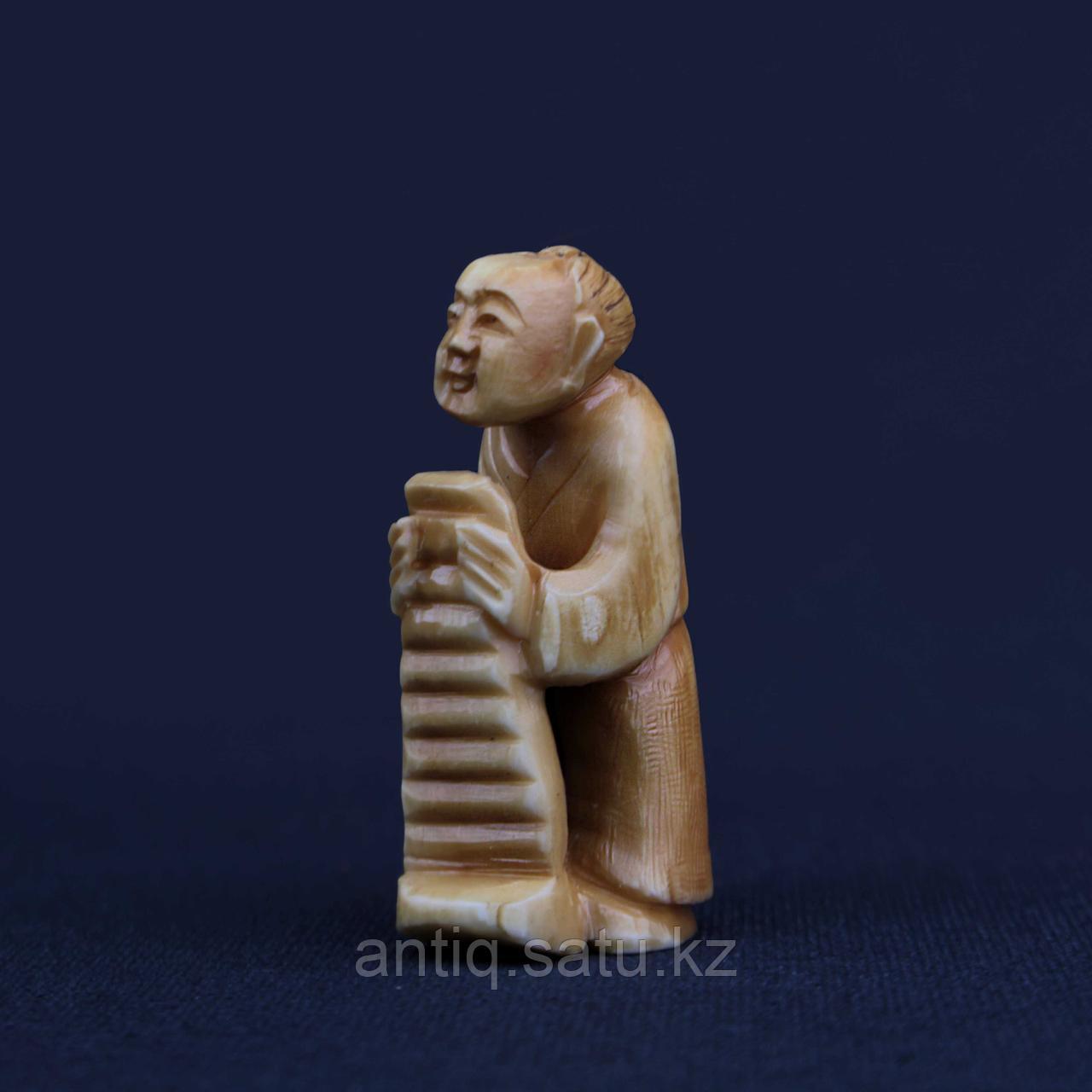 Нэцкэ Крестьянин. Слоновая кость - фото 2
