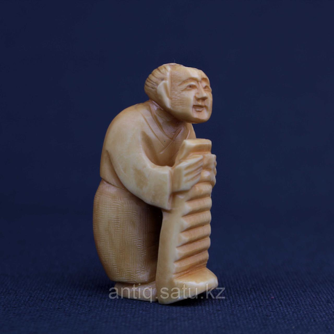Нэцкэ Крестьянин. Слоновая кость - фото 4