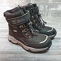Ботинки серые для мальчиков на одной липучке Sup ernice