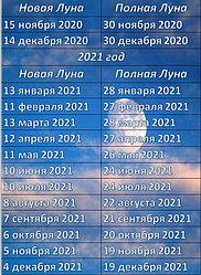 Лунный календарь 2021-2022 год