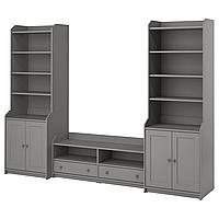 Комбинация для хранения/под ТВ ХАУГА серый 277x46x199 см ИКЕА, IKEA