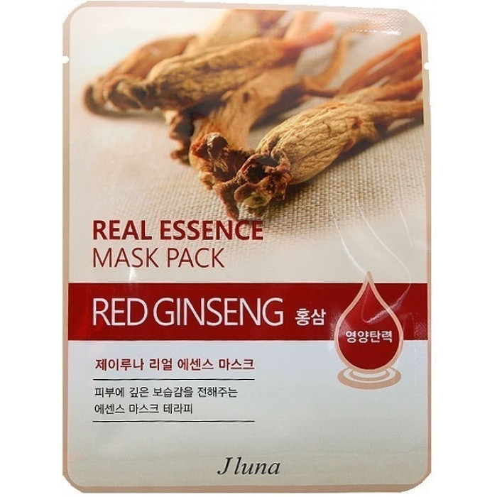 JUNO Jluna Real Essence Mask Pack Red Ginseng Тканевая Маска с Красным Женьшенем