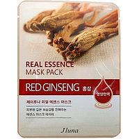 Juno Тканевая маска с красным женьшенем Jluna Real Essence Mask Pack Red Ginseng
