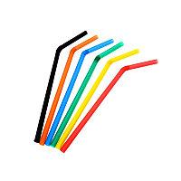 Трубочки d6x26mm цветные с гофрой (100шт)