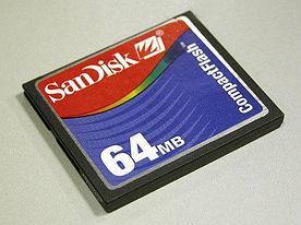 Карта памяти SanDisk CompactFlash 64Mb