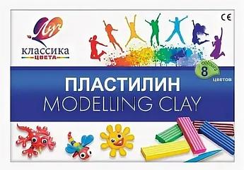 "Пластилин из 8 цветов ""Modelling Clay"""