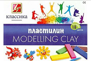 "Пластилин из 18 цветов""Modelling Clay"""