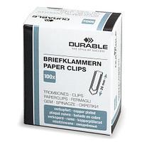 Скрепки DURABLE, 26 мм, омедненные, 100 шт., в картонной коробке, 1204-24 (арт. 221972)