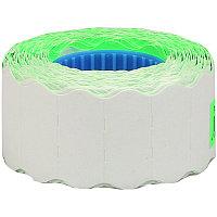 Этикет-лента OfficeSpace, 26*12мм, волна, зеленая, 800 этикеток (арт. 243303)