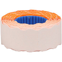 Этикет-лента OfficeSpace, 22*12мм, волна, оранжевая, 800 этикеток (арт. 243315)