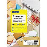 Бумага самоклеящаяся А4 100л. OfficeSpace, белая, неделенная, глянцевая, 80г/м2 (арт. 260645)