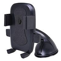 """Держатель Perfeo-516 для смартфона/навигатора, диагональ экрана до 6"""", крепление на стекло, суперприсоска, черный (арт. 650076)"""